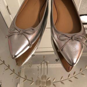 Banana Republic Shoes - New Banana Republic Metallic Ballet Flats 8.5